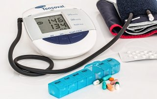 Blood pressure monitor with high blood pressure reading
